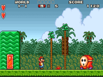 Gameboy Screenshot Super Mario Advance