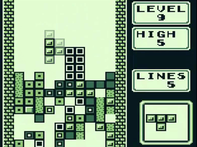 Gameboy Screenshot Tetris
