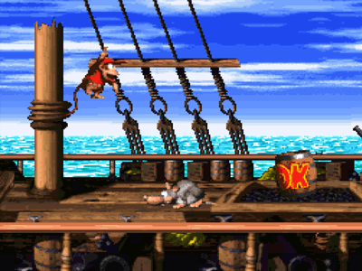 Super Nintendo SNES Screenshot Donkey Kong Country 2