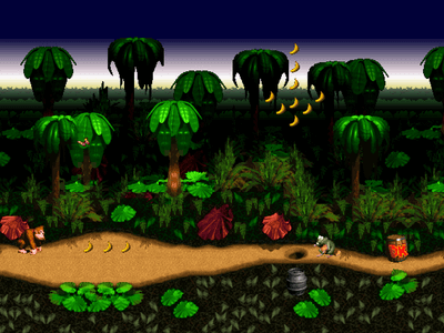 Super Nintendo SNES Screenshot Donkey Kong Country
