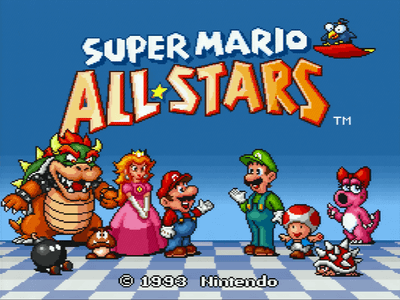 Super Nintendo SNES Screenshot Super Mario Allstars