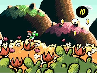 Super Nintendo SNES Screenshot Super Mario World 2: Yoshi's Island