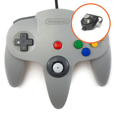 Originele Nintendo 64 Controller Grey - Gamecube Edition