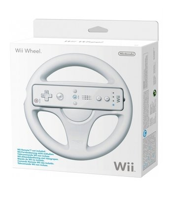 Nintendo Wii Steering Wheel White [BOXED]
