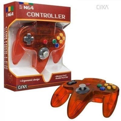 Nieuwe Nintendo 64 [N64] Controller Fire Orange