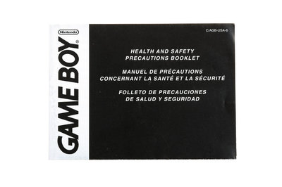 Game Boy Healty and Safety Precautions Booklet