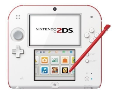 Nintendo 2DS White-Red