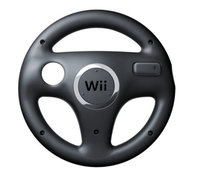 Nintendo Wii Steering Wheel Black