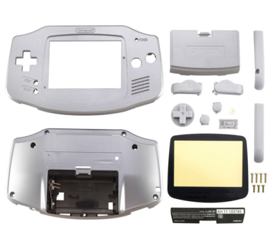 Gameboy Advance Shell Platinum (Silver)