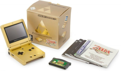 Gameboy Advance SP Zelda Limited Edition Pak