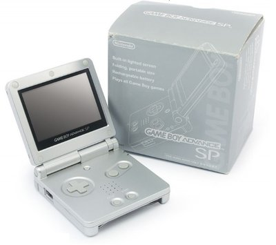 Game Boy Advance SP Silver (Boxed)
