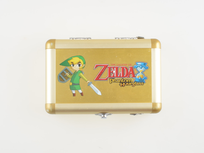 Zelda Phantom Hourglass - Aluminum Gold Case - Nintendo DS