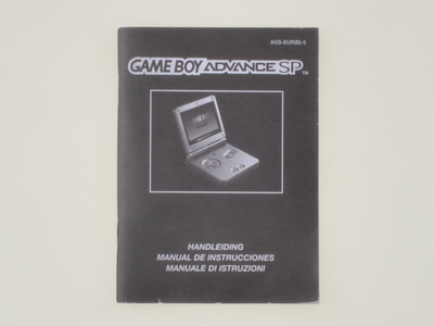 Gameboy Advance SP Console Manual