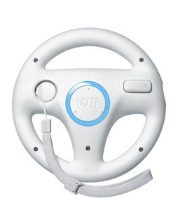 Nintendo Wii Steering Wheel - White (back)