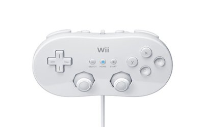 Nintendo Wii Classic Controller White (front) - kopie