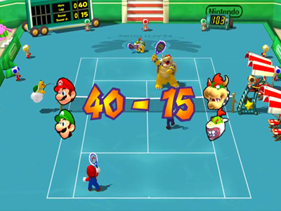 Gamecube Screenshot Mario Power Tennis