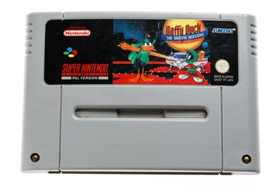 Daffy Duck Marvin Missions SNES Cart