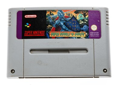 Super Ghouls and Ghosts SNES Cart